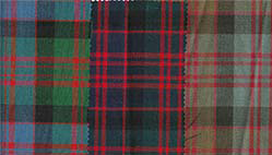 MacDonald Clan tartan, in 'Ancient', 'Modern' and 'Reproduction' colours